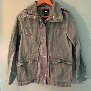 H&M military jacket army green